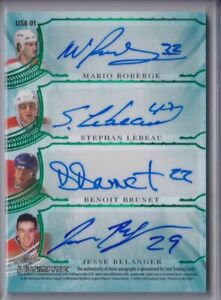 CARBONNEAU/ LECLAIR/PETROV/ MORE 2020 Leaf Ultimate Emerald 8X AUTO SIGNATURE /4