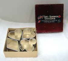 Old Fagley Cake and Sandwich Cutters Original Box Deep Cookie Cutters  T75