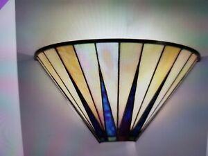 Set of 3 Dark Star 1 Light Tiffany Style Glass Wall Lights