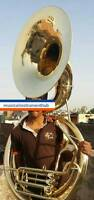 "SOUSAPHONE BIG SIZE 25"" BELL IN GOLD POLISH OF PURE BRASS + FREE CASE +FREE SHIP"