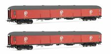Electrotren HE4001 Paquexpres, 2-Unit Pack Luggage Van DD-8100, Red Livery, P...