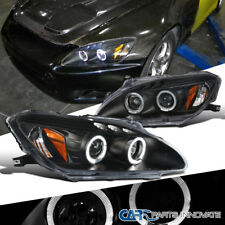 Fit Honda 00-03 S2000 S2K AP1 Black LED Halo Projector Headlights Head Lamps