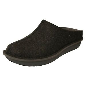 STEP FLOW CLOG MENS CLARKS SLIP ON MULES WINTER HARD SOLE SLIPPERS SHOES SIZE