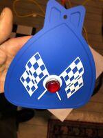 BLUE BICYCLE MUD FLAP WITH JEWEL FITS SCHWINN COLUMBIA HUFFY ROADMASTER