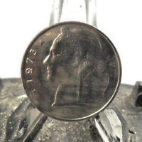 CIRCULATED 1973 5 FRANC BELGIUM COIN (20318)1.....FREE DOMESTIC SHIPPING!!!!!