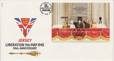 Unaddressed Jersey FDC First Day Cover 1995 Liberation 50th Anniversary Sheet