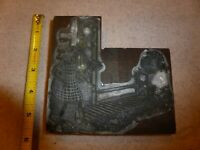 Vintage Letterpress Printing Block Large Mother Daughter Wood Metal Antique