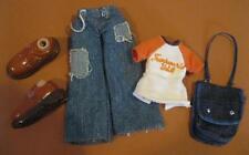 "Bratz 10"" Boyz Boy Doll Outfit Clothes/Shoes-Denim Jeans Truckworld T-Shirt Bag"