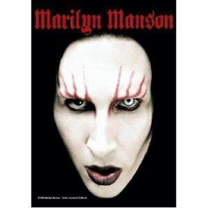 MARILYN MANSON Textile poster fabric flag HEADSHOT