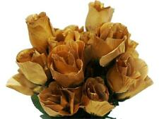 84 Gold SILK ROSE BUDS Wedding Party Flowers Bouquets Decorations on SALE