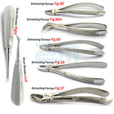 Tooth Forceps Dental Surgical Extraction Upper Lower Molars Cryer Root Elevators