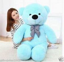 "120cm  Big Teddy Bear Plush ""Blue""Huge Soft Stuffed kids Baby Birthday Gifts CA"