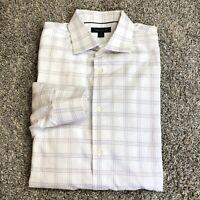 Banana Republic Slim Fit Large Shirt Button Front Long Sleeve White Purple