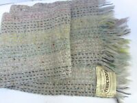 Mucros Scarf Mohair Wool Handwoven Muckross Killarney Ireland Grey Ivory Mutli