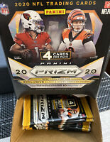 2020 PANINI PRIZM NFL FOOTBALL FACTORY SEALED RETAIL FULL GRAVITY FEED 36 PK LOT