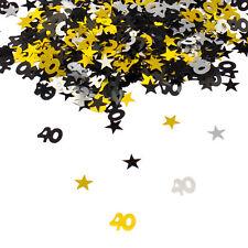 40 Geburtstag Jubiläum Konfetti Gold Silber Schwarz Sterne Tisch Deko 500 Stück