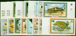 Anguilla 1976 New Constitution Set of 16 SG223-240 Very Fine MNH