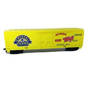 HO Crystal Farms - Energizer - Tony's Pizza - Red Baron Advertising Box Car