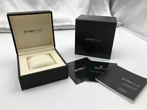 Genuine TAG Heuer Empty Watch Box Case Authentic Booklet Black 210208023 P357