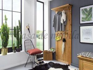 Massivholz Garderoben-paneel Kiefer massiv gelaugt geölt Wand-garderobe Holz