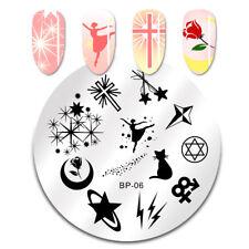 Born Pretty Para Uñas Stamping Placa Sailor Moon imagen Sello Plantillas Manicura
