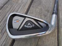 Callaway X2 Hot Single 6 Iron Golf Club Left Hand Graphite 65-S Shaft Stock Grip