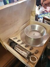 Vintage nutbrown Icing kit and turntable