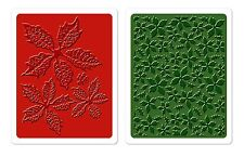 Sizzix Poinsettia Pattern Emboss 2-pk set #658270 Retail $10.99 Tim Holtz Alter.