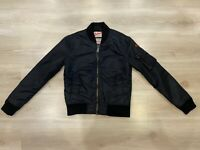 Schott NYC Women's ACW Flight USA Bomber College Black Jacket Size- Small