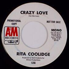 Rita Coolidge: Crazy Love (Van Morrison) Us A&M 1256 Dj Promo Pop Rock 45 Nm