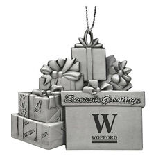 Wofford College - Pewter Gift Package Ornament