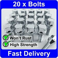 20 x SILVER ALLOY WHEEL BOLTS FOR BMW 3 SERIES (2012+) M14x1.25 LUG NUTS [7F]