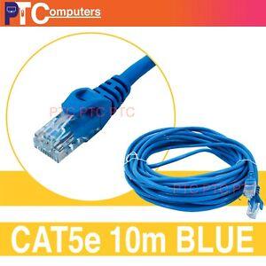 10m Cat 5/Cat 5e RJ45 UTP Ethernet Patch Lead Network Lan Data cable Cord