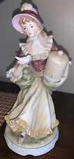 Vintage Porcelain Figurine by Classic Gallery Collection C6640 Girl w/ Birdcage