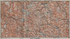 NORTH TELEMARKEN topo-map. Kongsberg Dalen Bakken. Norway kart 1909 old