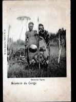 MATADI (CONGO BELGE) ETHNIQUE / GUERRIERS UPOTO avec ARMES en 1901