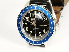 Vostok Bezel Submariner Style for Vostok Amphibian Watch with Seiko Blue Insert