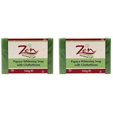 PAPAYA WHITENING SOAP GLUTHATHIONE 100gms Pack2  whitens anti wrinkle