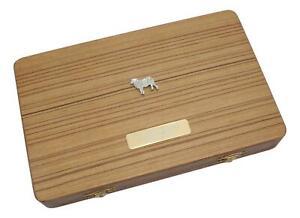 Butcher Sheep Wooden Backgammon Pub Set In Box & Free Engraving 50