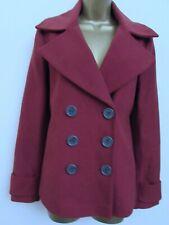 MISS SELFRIDGE LADIES RUSTY BROWN RED JACKET COAT SIZE 8 WOMENS