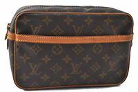 Authentic Louis Vuitton Monogram Compiegne 23 Clutch Hand Bag M51847 LV B5587