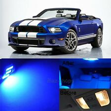 9Pcs Blue LED Lights Interior Lamp Package Kit For 2010-2017 Ford Mustang MP