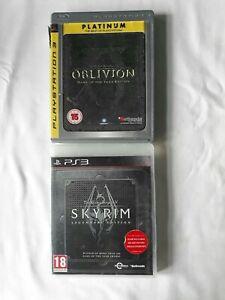 The Elder Scrolls V Skyrim legendary edition & Oblivion GOTY edition Playstation