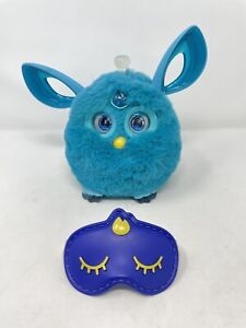 FURBY Connect Teal Blue 2016 Hasbro Interactive Bluetooth Toy w/Sleeping Mask