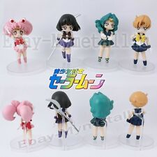 "4pcs Set Sailor Moon Chibi Saturn Neptune Uranus 6cm / 2.4"" PVC Figure Loose"