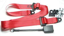 ROSSO di 3 punti statica-Cintura di sicurezza, Red seatbelt FIAT 500, 600, 850, 124