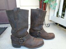 Frye Harness Boots Mens 10M Brown Leather Motorcycle biker Made USA
