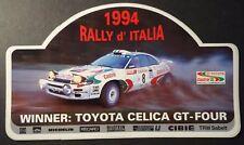 Aufkleber Rally d´Italia TOYOTA CELICA GT-FOUR CASTROL WRC TEAM 1994 Sticker TTE