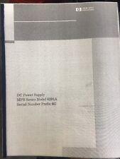 Hewlett-Packard DC Power Supply MPB Series Model 6291A Serial Number Prefix 6G