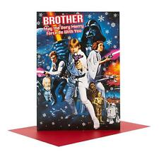 Star Wars Brother May The Very Merry Force Be With You Christmas Card Gift